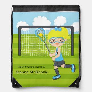 Lacrosse girl drawstring bag
