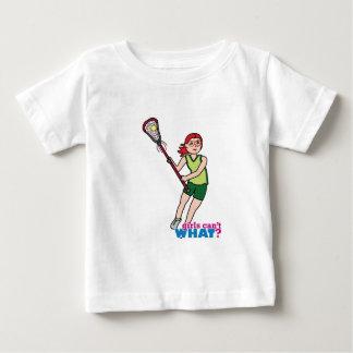 Lacrosse Girl - Light/Red Baby T-Shirt