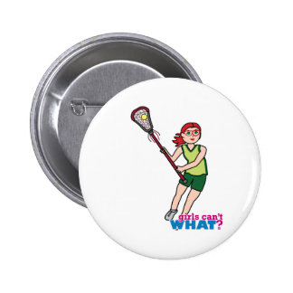 Lacrosse Girl - Light/Red Button