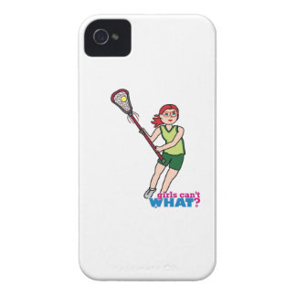 Lacrosse Girl - Light/Red iPhone 4 Case-Mate Cases
