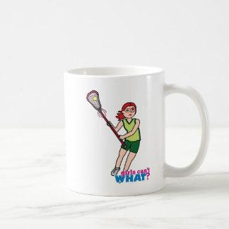 Lacrosse Girl - Light/Red Classic White Coffee Mug