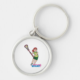 Lacrosse Girl - Light/Red Keychains