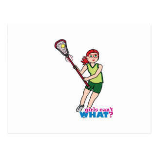Lacrosse Girl - Light/Red Postcard