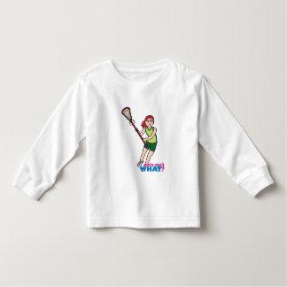 Lacrosse Girl - Light/Red Shirts