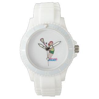 Lacrosse Girl - Light/Red Wristwatch