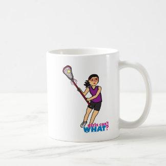 Lacrosse Girl - Medium Classic White Coffee Mug