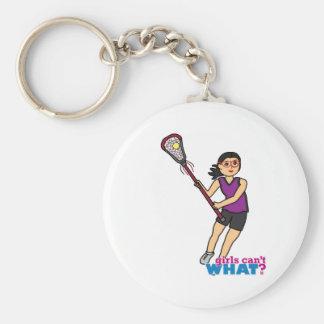 Lacrosse Girl - Medium Keychain