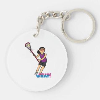 Lacrosse Girl - Medium Key Chains