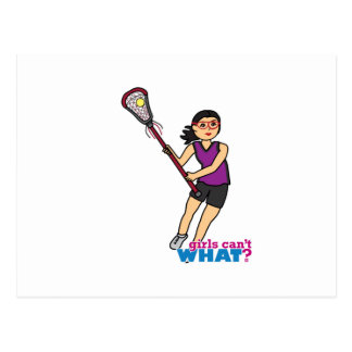 Lacrosse Girl - Medium Postcard