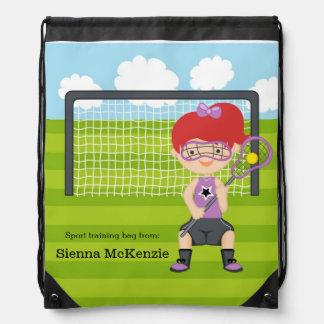 Lacrosse girl cinch bags