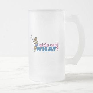 Lacrosse Girls Blue Uniform 16 Oz Frosted Glass Beer Mug