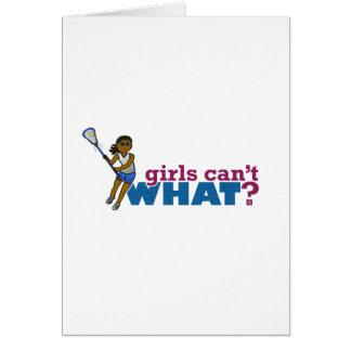 Lacrosse Girls Blue Uniform Card