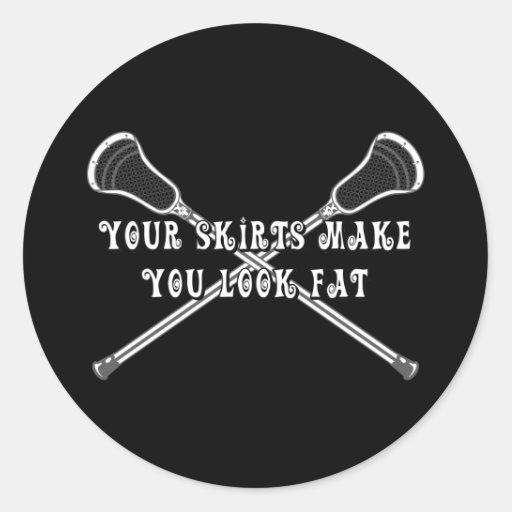 Lacrosse Girls Fat Sticker