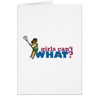 Lacrosse Girls Green Uniform Card