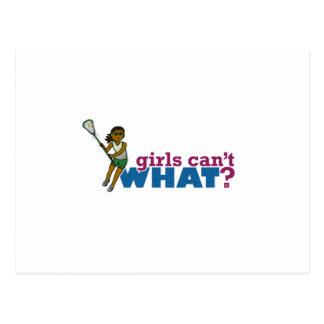 Lacrosse Girls Green Uniform Postcard