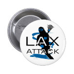 Lacrosse Girls LAX Attack Blue Pins