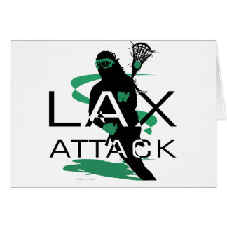 Lacrosse Girls LAX Attack Green Card