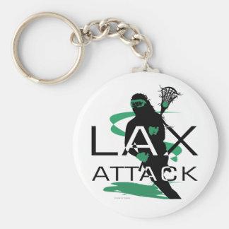 Lacrosse Girls LAX Attack Green Keychain