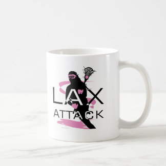 Lacrosse Girls LAX Attack Pink Classic White Coffee Mug