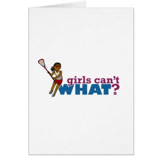 Lacrosse Girls Red Uniform Card