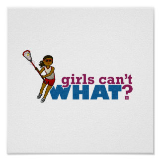 Lacrosse Girls Red Uniform Posters