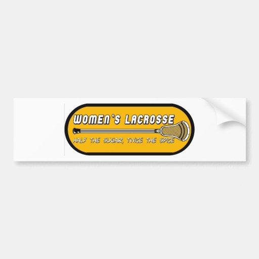 Lacrosse Girls WomensLacrosseSS 2 Bumper Sticker