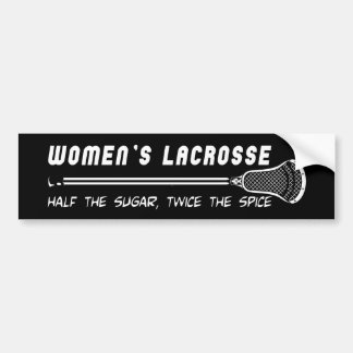 Lacrosse Girls WomensLacrosseSS Bumper Sticker Car Bumper Sticker