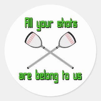 Lacrosse Goalie AllYourShots Sticker