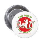 Lacrosse Goalie Design Pinback Button