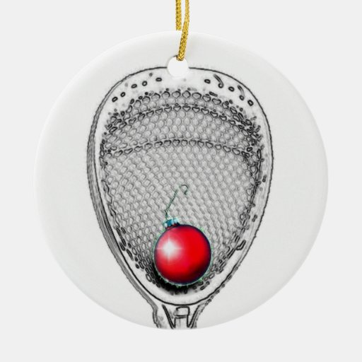 lacrosse goalie gifts Double-sided Ceramic Round Christmas Ornament