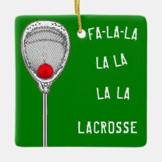 lacrosse goalie holidays ceramic ornament