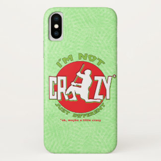 Lacrosse Goalie 'I'm Not Crazy' Cell Phone Case