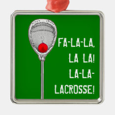 Lacrosse Goalie Metal Ornament at Zazzle