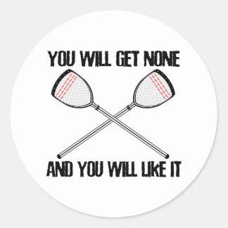 Lacrosse Goalie NoneAndLikeIt Sticker