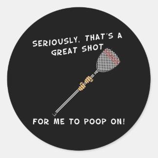 Lacrosse Goalie Poop Sticker