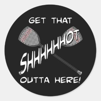 Lacrosse Goalie Shhhot Sticker