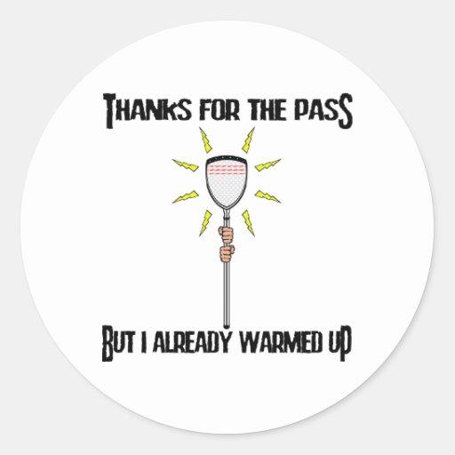 Lacrosse Goalie ThanksColor Sticker