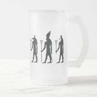 Lacrosse Gods Frosted Glass Beer Mug