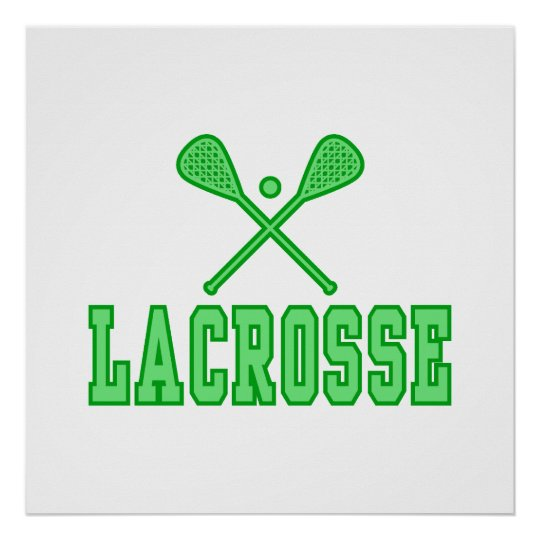 Lacrosse Green Poster