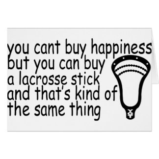 Lacrosse Happiness Card