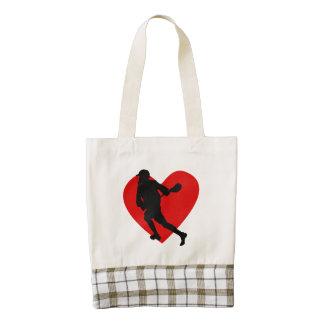 Lacrosse Heart Zazzle HEART Tote Bag