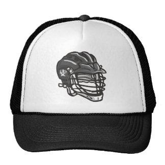 Lacrosse Helmet Black Trucker Hat