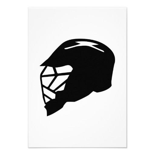 Lacrosse helmet invites