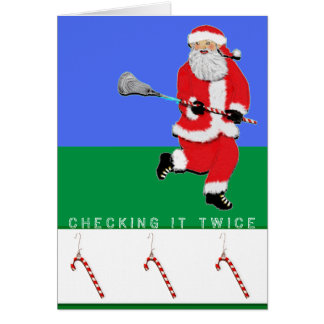 lacrosse holiday greeting card