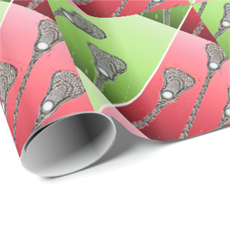 Lacrosse holiday wrapping paper