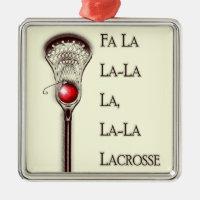 Lacrosse Holidays Metal Ornament