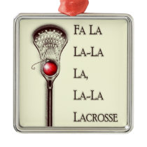 Lacrosse Holidays Metal Ornament