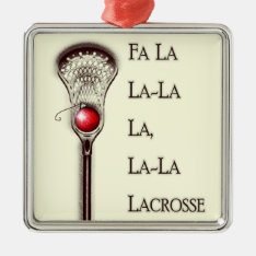 Lacrosse Holidays Metal Ornament at Zazzle