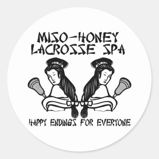 Lacrosse Humor MisoHoneySpa Sticker