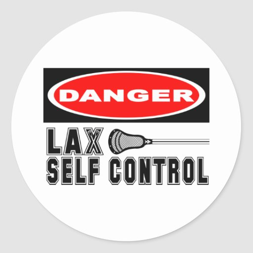 Lacrosse Humor sELFcONTROL Sticker